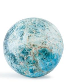Blue Apatite Sphere Madagascar inches cm) in diameter This sphere is quite something at inches cm) - Available at Thursday Internet Natural. Cool Rocks, Beautiful Rocks, Crystal Sphere, Crystal Ball, Minerals And Gemstones, Rocks And Minerals, We Will Rock You, Pet Rocks, Mineral Stone