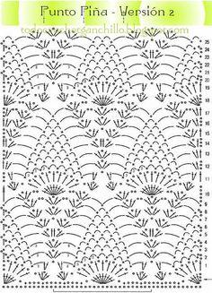 Resultado de imagen para punto piña crochet