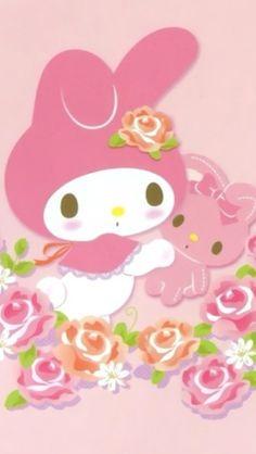 My Melody My Melody Wallpaper, Hello Kitty Wallpaper, Kawaii Wallpaper, Iphone Wallpaper, Cute Backgrounds, Cute Wallpapers, Badtz Maru, Happy Palm Sunday, Keroppi