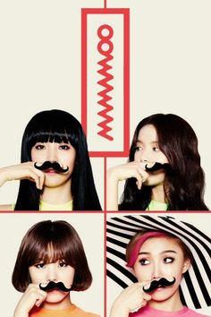 MAMAMOO: fake mustache aesthetic