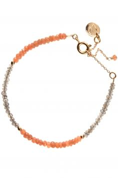 lune I gold plated gemstone bracelet I designed by au fil de lo I NEWONE-SHOP.COM