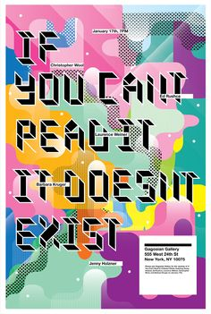 """""""If you can't read it, it doesn't exist"""" poster design Graphic Design Posters, Graphic Design Typography, Graphic Art, Type Design, Design Art, Type Illustration, Poster Design Inspiration, Creative Posters, Typography Poster"""