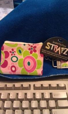 $5.99 Strapz wristlet Pink Floral coin purse and key chain