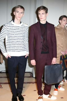 Backstage at Valentino Men's RTW Fall 2014 [Photo by Delphine Achard]