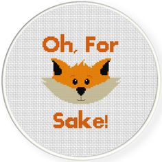 FREE for August 2015 Only - Funny Fox Cross Stitch Pattern, in grey Cross Stitch Quotes, Mini Cross Stitch, Modern Cross Stitch, Funny Cross Stitch Patterns, Cross Stitch Designs, Cross Stitching, Cross Stitch Embroidery, Crochet Cross, Owl Crafts