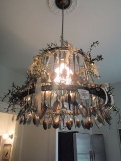 Light fixture ... definitely different and unique!