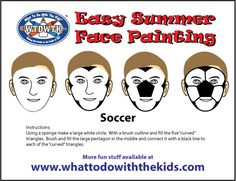 Simple and Easy Face Painting Design - Soccer