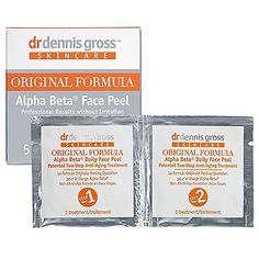 Dr. Dennis Gross Skincare Alpha Beta Daily Face Peel 5 Towelettes by Dr. Dennis Gross Skincare. $15.00. What it is:A daily antiaging face peel.What it is formulated to do:This product not only diminishes the appearance of wrinkles, but it helps complexion problems, balances oil, tones skin, instantly firms, and increases clarity and radiance. Uniquely soothing, it also helps to calm redness, sensitivity, and irritation while minimizing the appearance of pores and scars. Plus, i...