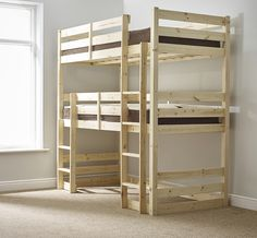 Fusion 3ft Single Heavy Duty Solid Pine Bunk Bed