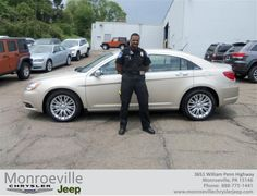 #HappyAnniversary to Andre Acie on your 2013 #Chrysler #200 Series from Bobby Ristick at Monroeville Chrysler Jeep!