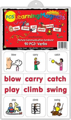 Barker Creek - Office Products Learning Magnets, 90 Pieces Verbs (LM-3000) >>> Continue to the product at the image link. (This is an affiliate link) Lesson Planner, Teacher Planner, Helping Children, Children With Autism, Cool Office Supplies, Learning Toys For Toddlers, Teacher Cards, Educational Toys, Communication