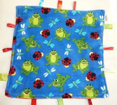 """super soft 15"""" cuddle blanket with ribbon taggies- $18.00- great size!"""