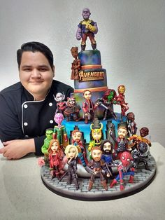 Can this be my birthday cake, please? Crazy Cakes, Marvel Memes, Marvel Dc Comics, Pastel Avengers, Bolo Tumblr, Marvel Cake, Marvel Cupcakes, Avenger Cake, Harry Potter Cake