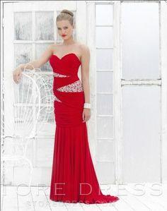2014 Style Sheath / Column Sweetheart  Beading  Sleeveless Floor-length Chiffon Prom Dresses / Evening Dresses at Storedress.com
