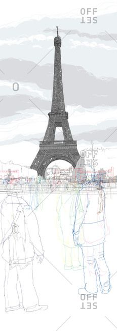 Artist: Rupert Van Wyk stock images from Offset. Authentic photography and illustrations by award-winning artists. Section Drawing Architecture, Architecture Artists, Facade Architecture, Architecture Sketches, Paris Eiffel Tower, Tour Eiffel, City Drawing, Comic Drawing, Architectural Section