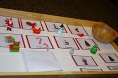 Christmas Montessori  3-Part Cards by TheLaminatrix on Etsy
