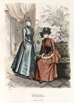 Freja - Illustrerad Skandinavisk Modetidning (Swedish) 1885