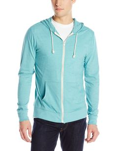 Threads 4 Thought Men's T-Shirt Zip Front Hoodie at Amazon Men's Clothing store: