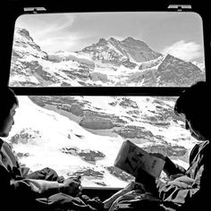 train ride through the swiss alps.
