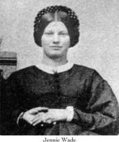 Jennie Wade, Civil War, the only known civilian killed at Gettysburg as a bullet came through her home while baking bread.