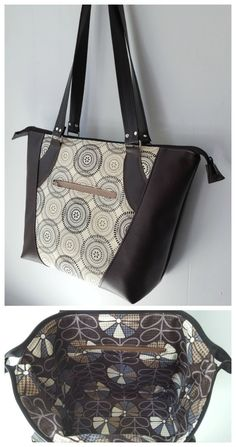 My favorite purse sewing pattern.  Easy to make, has some nice features, and can sew it in vinyl/leather or all fabric too.  Looks like store bought when it's finished.