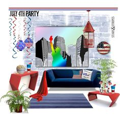 decorating for 4th of july by rosie305 on polyvore featuring interior interiors interior design - Cyan Home Interior