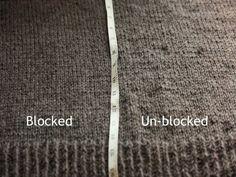 Blocking - simple, straight forward information on basic blocking. Number 1 of a series of articles on blocking || Knitty