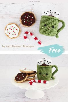 Cupcakes and Hot Cocoa Crochet Free Pattern Amazing! This Cupcakes and Hot Cocoa Crochet Free Pattern is a must-have for your little ones tea set! Crochet Cake, Crochet Amigurumi, Crochet Food, Crochet Crafts, Crochet Dolls, Yarn Crafts, Crochet Projects, Kawaii Crochet, Cute Crochet