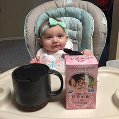 Testing out a new lactation tea that I got today #EarthMamaAngelBaby #lactationtea #breastfedbaby #breastfeeding #nursingmom #momlife