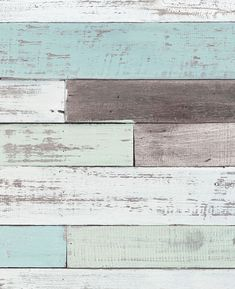 Our Reclaimed Painted Beach Wood Mural Wall Art Wallpaper has a sand-and-surf appeal, from its weathered driftwood look to its sea glass hues of blue and green. Brick Wallpaper Roll, Stone Wallpaper, Wall Art Wallpaper, Mural Wall Art, Wallpaper Panels, Peel And Stick Wallpaper, Wood Wall Art, Wood Walls, Beach Themed Wallpaper