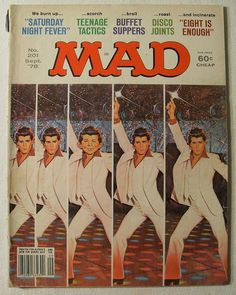 MAD MAGAZINE 1978 Vintage Illustration BY JACK RICKARD Alfred E. Newman JOHN TRAVOLTA Saturday Night Fever by Christian Montone, via Flickr