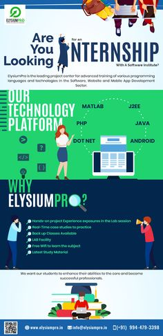 Internship service at ELysiumPro to enhance your skills and abilities to become successful profession.. #internship #domains #project #projectcenter #elysiumpro
