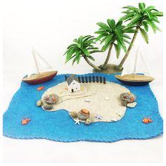 Caribbean Island Playscape Play Mat felt imagination