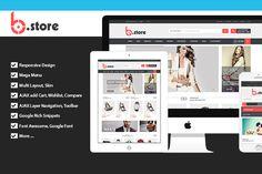 BStore - Responsive Magento Theme by PlazaThemes.com on Creative Market