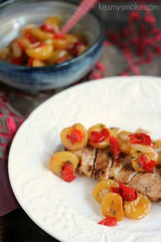 Smoked Pork Chops with Rainier Cherry Salsa | kissmysmoke.com | #grill ...