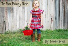 Shwin: The Pear Picking Tunic - cute diy top.  Would be adorable with Teagan's new riding boots!