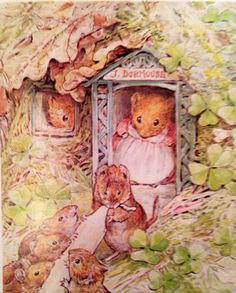 Dormouse Family Makes Candles inspired by Beatrix Potter Counted Cross Stitch or Counted Needlepoint Pattern Art And Illustration, Beatrix Potter Illustrations, Beatrice Potter, Peter Rabbit And Friends, Murals Your Way, Marjolein Bastin, Motifs Animal, Illustrators, Fairy Tales