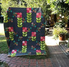 PREORDER Walk in the Park Quilt Kit using V and Co Confetti