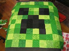 minecraft quilt creeper. I should make this for Jordan, he would love this!