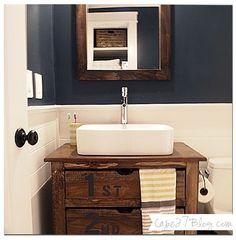 Benjamin Moores Hale Navy in a bathroom-Courtesy of Cape 27