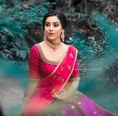 Half Saree Lehenga, Lehenga Saree Design, Saree Look, Sarees, Wedding Saree Blouse Designs, Half Saree Designs, Saree Models, Indian Designer Outfits, Look Cool