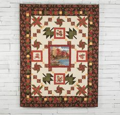 Island Flannel Quilt Kit by Doug Leko featuring Moda Maple Island by Holly Taylor Fabric