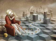 """Nicoletta Ceccoli, """"The Girl in the Castle..."""""""