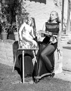 "Love her art - Tamara de Lempicka – born Maria Górska in Warsaw, Poland, was a Polish Art Deco painter and ""the first woman artist to be a glamour star"". Arte Fashion, Art Deco Fashion, Famous Artists, Great Artists, Artist Art, Artist At Work, Tamara Lempicka, Moda Art Deco, Estilo Art Deco"
