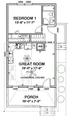 16x32 Tiny Houses 511 sq ft PDF Floor by ExcellentFloorPlans ...