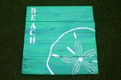 """Beach Sand Dollar"" #pallet #painting"