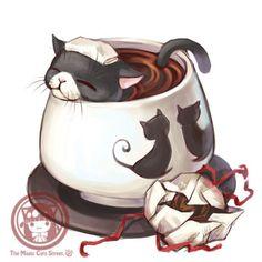 tea cat by swdd-cat.deviantart.com on @deviantART #CatArt #Cat