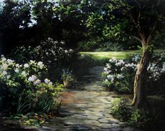 """""""Garden Path"""" Acrylic Painting by Kevin Hill Watch short painting lessons on YouTube: KevinOilPainting Visit my website: www.paintwithkevin.com Find me on Facebook: Kevin Hill Follow me on Twitter: @Kevin Hill"""