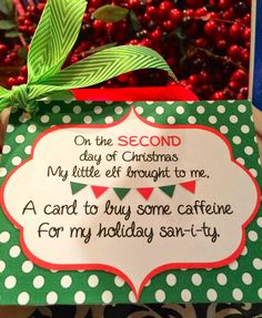 12 Days of Christmas for Teachers: Days 1-4. From Marci Coombs Blog School Christmas Gifts, Christmas Gift From Teacher, Christmas Gift Games, Christmas Holidays, Christmas Gifts For Coworkers, Twelve Days Of Christmas, School Gifts, Secret Santa Christmas Gifts, Diy Christmas Gifts