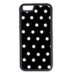 CellPowerCasesTM Black and White Polka Dots iPhone 6 (4.7) V1 Black... (160 MXN) ❤ liked on Polyvore